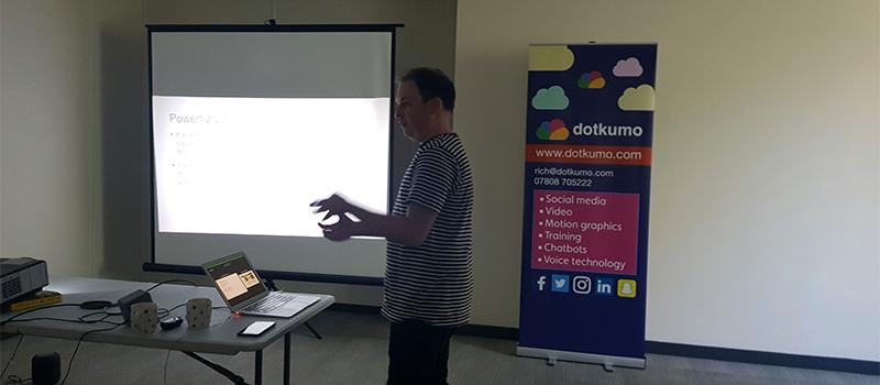 Rich Ashby running voice technology workshop